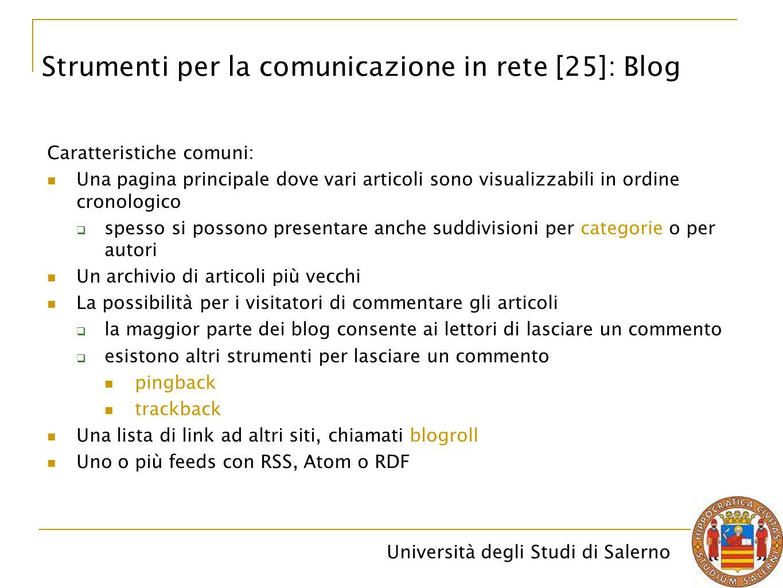 Strumenti per la comunicazione in rete [25]: Blog